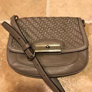 Coach taupe crossbody bag